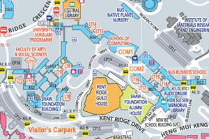 Map of National University Singapore (NUS)