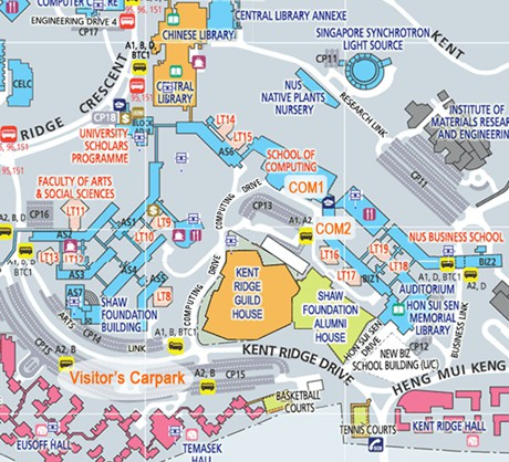 Map of NUS